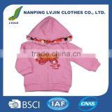OEM Service Kids Clothes Baby Girl Spring Zipper with hoodies Coat ,Brand Customized Manufacturer For Chlidren Clothing