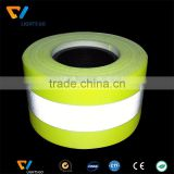China supplier fluorescent yellow fire retardant reflective tape for firefighter uniform