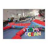 Red Floating Inflatable Water Game Turtle Aqua Run For Swimming Pool