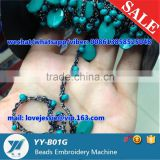 Wholesale Beaded fashion cording cord glass beads accessories/ roll embroidery bead / customized 1mm and 2mm beads