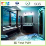 Chemical excellent stain durability liquid resin epoxy 3d floor paint
