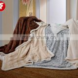 King size best price blanket factory in China 2 ply korean mink sherpa blanket wholesale