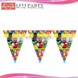paper Party Flags,Christmas Flags,Bunting Flags For Decoration satin mini car flag pennant