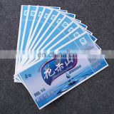 China factory wholesale die cut heat resistant paper sticker for mineral water bottle label
