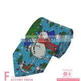 Novelty christmas tie ice skating snowman cute 100%silk tie for men