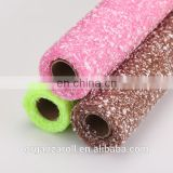 100% Pet flower packing material Snow Flake Flower Wrapping Mesh