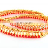 Wholesale Kundan Gold Plated Indian Anklet - Payal - Indian Crystal And Kundan Anklet Bollywood Style Gold Plated Kundan Anklet