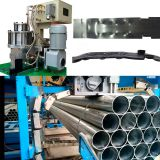 Flanged Notched Closure Sealless Joint Automatic Steel Strapping Machine For Steel Pipe Bundling