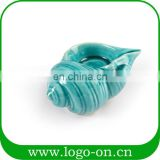 Romantic aromatherapy conch shaped ceramic candlesticks home decoration