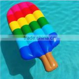 Relaxing inflatable ice cream pool float water swimming lounge island leisure floating toy popsicle