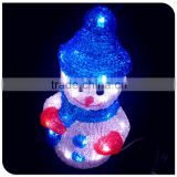christmas decorative led 3d motif snowman lights outdoor use