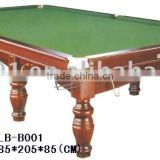 100% Natural slate solid wood pool table