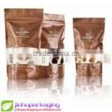 plastic bags for food packaging Food pouch coffee bag valve round tea bag cheap brown paper bags with handles