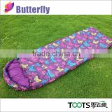 Beautiful Hooded Rectangular Sleeping Bag for girl 3 Season