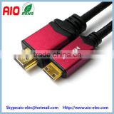 1.4V High speed quality braided mini hdmi male to hdmi male cable type a to c 2043p 1080P HDTV,DV