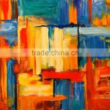 Osmart Cheap and High Quality 100% Handpainted Abstract Wall Art Oil painting bright color
