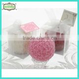 Hot sell flower ball wedding giveaways candle