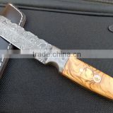 "udk h24"" custom handmade Damascus TANTO knife with wood handle"