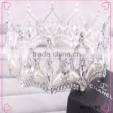 Pageant drill Round Tiara High-grade Crown For Wedding Performance Party