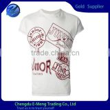 Letter printed high end quality t-shirt in white
