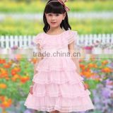 2013 new summer kids dress, sweet big girl dress, size 7 to 12 girl chiffon dress
