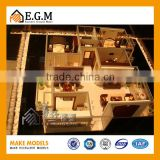 Lighting Real Estate Building Layout Mode , Miniature Architectural Model Maker