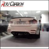 Car Parts For BMWW F30 Change to M4 Carbon Fiber Fiberglass Rear Bumper