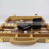 wooden indaid antique backgammon table boards game
