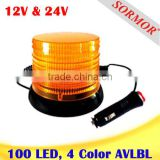 Amber Color LED Strobe & Rotating Warning Beacon Light, Strobe Turning Warning Light Free Sample