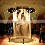 circle round digital water curtain/graphic water screen/aqua graphic water screen/waterfall
