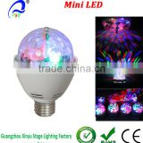 Rotating Disco Ball 360 Degree LED Disco Stage Light home Party Bulb and Disco Lighting with Star Shower Effects