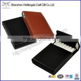 2015 Top Grade Mens Premium Automatic Leather Cigarette Case                                                                         Quality Choice