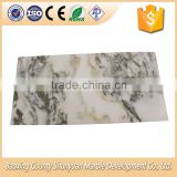 The Pattern with Chinese Landscape Painting Green background with Grey Veins Marble Tiles