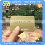 CR80 customized printing pvc card with metallic gold/silver background                                                                         Quality Choice