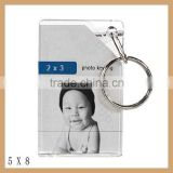 High quality fashion wholesale photo frame keychain for sale