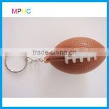 Promotional Logo Printed PU foam Anti Stress Ball Squeeze toy American Football Keychain