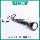 China factory IP65 3 watt colorful light water proof rechargeable LED high power long range rechargable torch