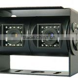HD Sony Ccd 600tvl Ip68K Waterproof Dual Lens Car Dvr Camera For Bus Truck With Optional Audio