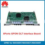 Brand New HUAWEI GPBD 8 ports GPON OLT Interface Board for MA5608T MA5680T MA5683T MA5600T
