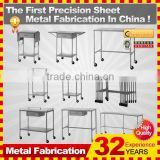 kindle 2014 new professional customized galvanized folding metal computer desk with locking drawers