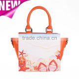Guangzhou New Design Lady Handbag and Tote Bag/Tourist Souvenir PU leather Printed lady bag