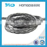 Hollow braided PE synthetic winch rope