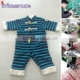 2015 newborn baby clothing set fleece baby pajama winter warm and comfortable kids clothes