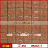 Gold foil mosaic glass mosaic for swimming pool tile
