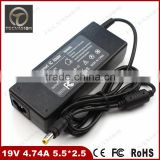 High quality Replacement Laptop Charger For Asus A6 Series 19V 4.74A power adapter laptop 90W 5.5*2.5 mm 3prong