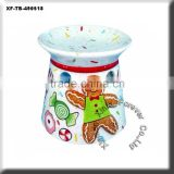 christmas hand painting ceramic oil burner                                                                         Quality Choice