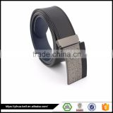 modern classic leather belt with Automatic Buckle Split