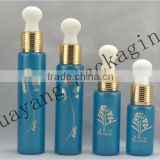 Blue glass bottle for oil glass tube bottle glass baby bottle