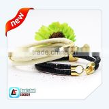 Gold Plate Imitation White Stingray Skin Jewelry Leather Cuff Bracelet Supplier