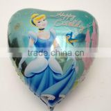 90*95cm big heart cinderella balloon helium for birthday party snow white 36 inch Aluminium foil balloon